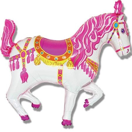 Pink Carousel Horse Supershape Balloon I Fun Foil Shapes I My Dream Party Shop