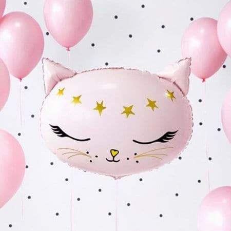 Pink Cat Foil Balloon I Cat Party Decorations I My Dream Party Shop UK