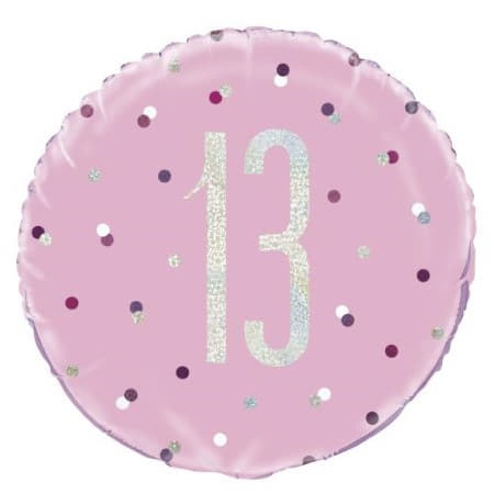 Pink Glitz Age 13 Balloon I 13th Birthday Party Decorations I My Dream Party Shop UK