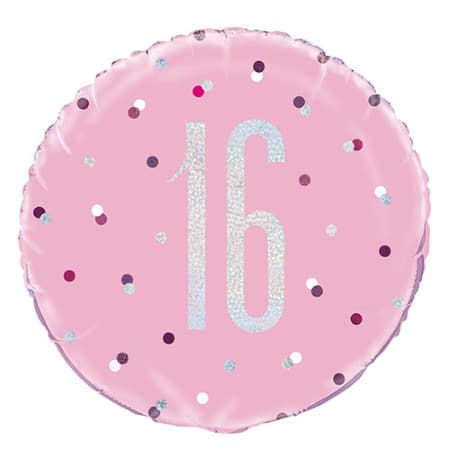 Pink Glitz Age 13 Balloon I 16th Birthday Party Decorations I My Dream Party Shop UK