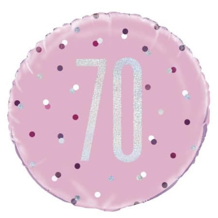 Pink Glitz Age 70 Balloon I 70th Birthday Party Decorations I My Dream Party Shop UK