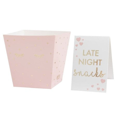 Pink Sleepover Midnight Feast Kit Boxes I Sleepover Party I My Dream Party Shop UK