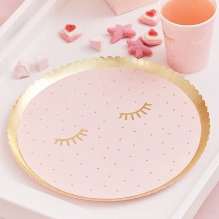Pink Pamper Party Plates I Pamper Party Supplies I My Dream Party Shop UK