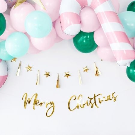 Pink Candy Cane Foil Balloon I Christmas Balloons I My Dream Party Shop