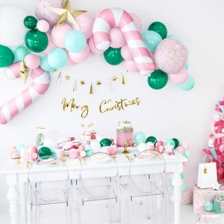Pink Candy Cane Foil Balloon I Festive Party Balloons I My Dream Party Shop