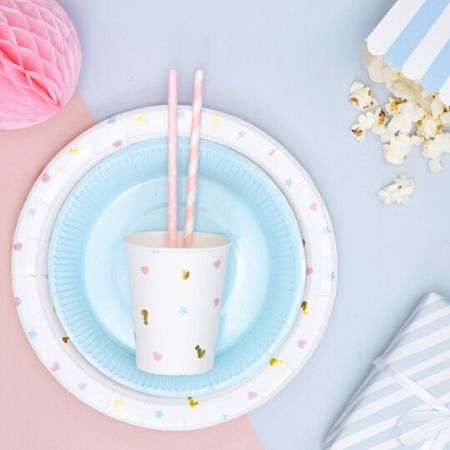 Pink and White Striped Straws I Modern Pink Tableware I My Dream Party Shop UK