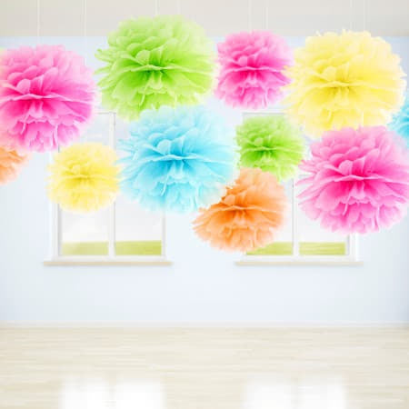 Lemon Tissue Pom Pom I Modern Yellow Party Decorations I My Dream Party Shop I UK