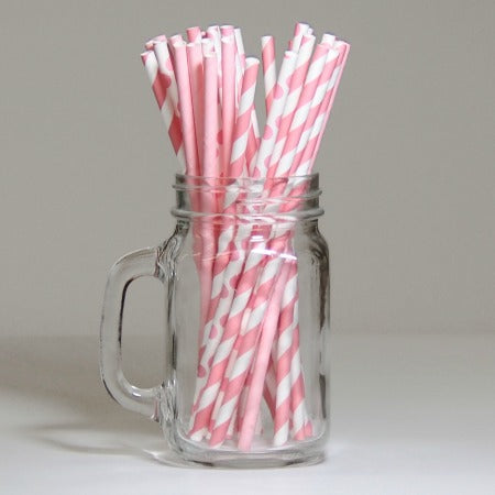 Pink and White Striped, Polka Dot and Plain Paper Party Straws I Pink Tableware I My Dream Party Shop I UK