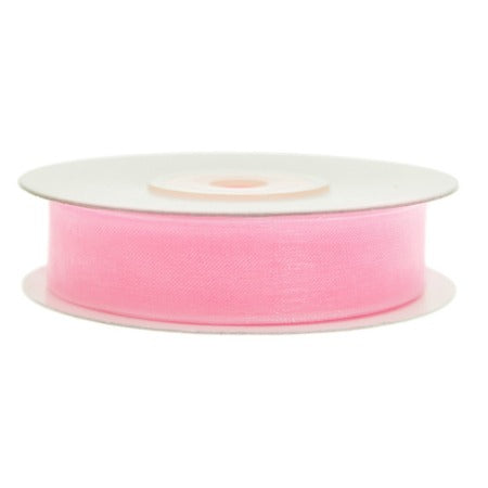 Light Pink Chiffon Party Decoration Ribbon 12 Metres, 12mm Thick My Dream Party Shop