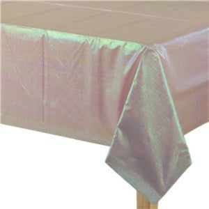 Opalescent Pink Dazzling Paper Tablecover - My Dream Party Shop