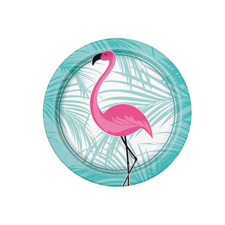 Turquoise and Pink Small Flamingo Plates I Pretty Party Tableware I My Dream Party Shop I UK