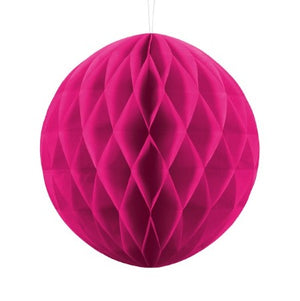 Dark Pink Honeycomb Tissue Ball Party Decoration I My Dream Party Shop I UK
