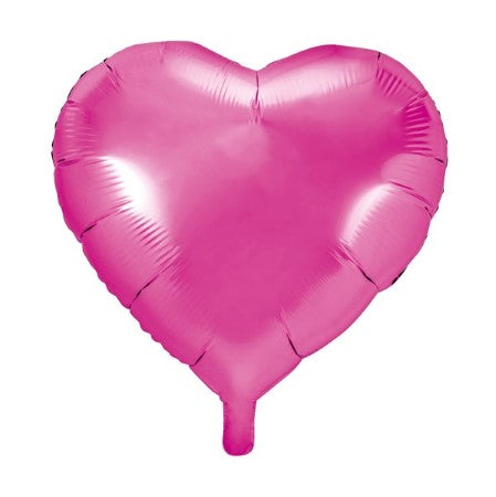 Metallic Dark Pink Heart Balloon I Cool, Modern Balloons I My Dream Party Shop I UK