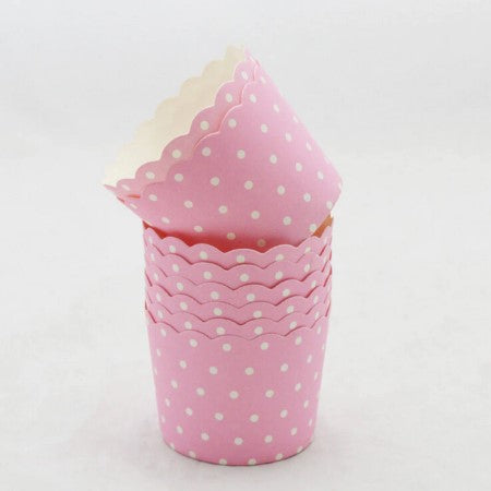Pink Polka Dot Baking Cups I Pretty Tableware & Decorations I My Dream Party Shop I UK