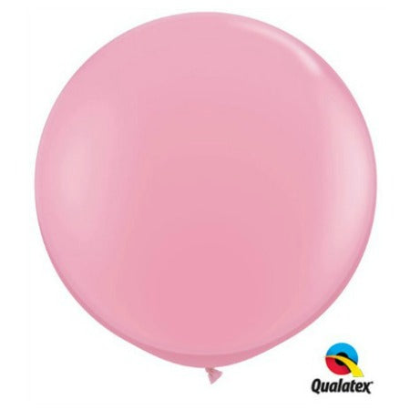 Giant Pink Round Latex Balloons I Qualatex 3 ft Balloons I My Dream Party Shop I UK