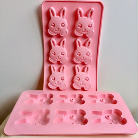Pink Silicone Easter Bunny Moulds I Pastel Easter Party Supplies I My Dream Party Shop UK