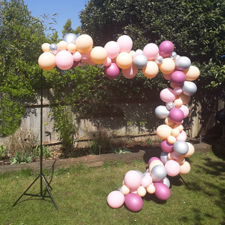 Pink, Silver and Blush Balloon Garland Cloud Decoration Kit I My Dream Party Shop I UK