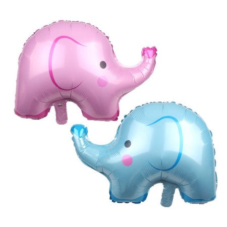 Cute Pink Elephant Foil Balloon I Gender Reveal Pink & Blue Balloons I My Dream Party Shop I UK