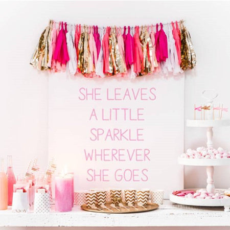 Luxury Pink and Gold Tissue Tassel Garland I My Dream Party Shop I UK