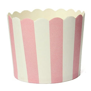Pink and White Striped Baking Cups I Pretty Party Tableware & Decorations I My Dream Party Shop I UK