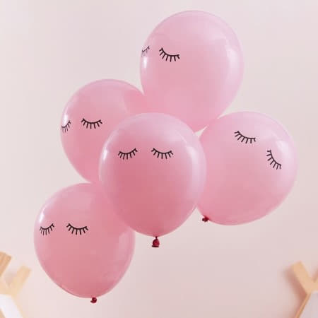 Pink Sleepy Eyes Pamper Party Balloons I Sleepover Party Decorations I My Dream Party Shop UK