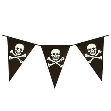 Pirate Skull and Crossbones Bunting I Cool Pirate Party Decorations I My Dream Party Shop I UK
