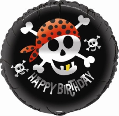 Black Skull and Crossbones Pirate Balloon I Cool Pirate Party Decorations I My Dream Party Shop I UK