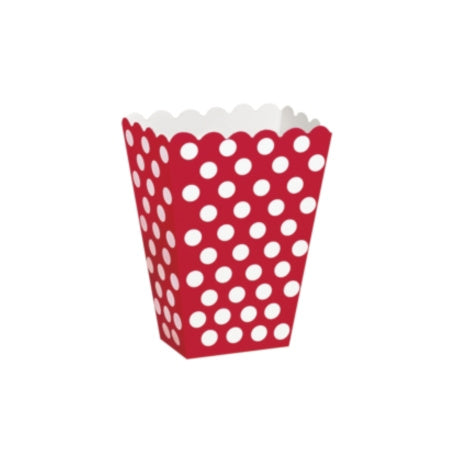 Red and White Polka Dot Popcorn Treat Boxes I My Dream Party Shop I UK