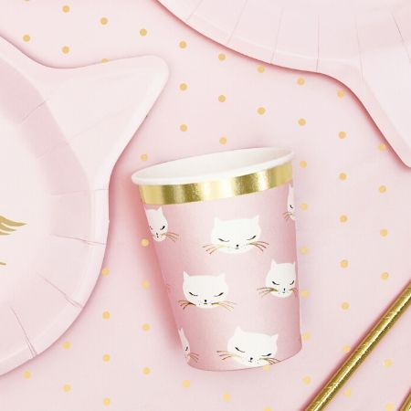 Pretty Pink Cat Cups I Pretty Pink Cat Party I My Dream Party Shop UK