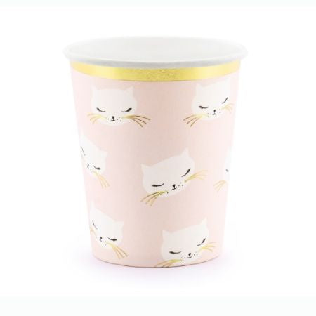 Pretty Pink Cat Cups I Pretty Pink Cat Party Supplies I My Dream Party Shop UK