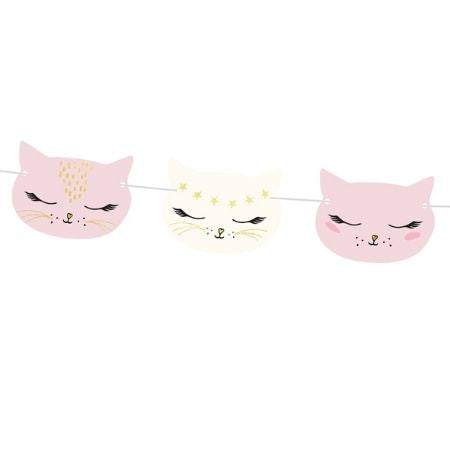 Pretty Pink Cat Garland I Pretty Pink Cat Party Supplies I My Dream Party Shop UK