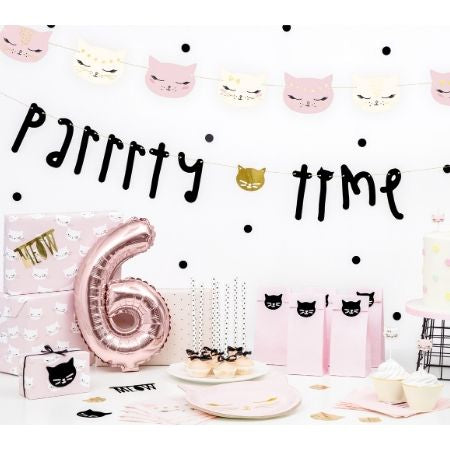 Pretty Pink Cat Garland I Pretty Pink Cat Party Decorations I My Dream Party Shop UK
