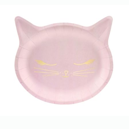 Pretty Pink Cat Plates I Pretty Pink Cat Party I My Dream Party Shop UK