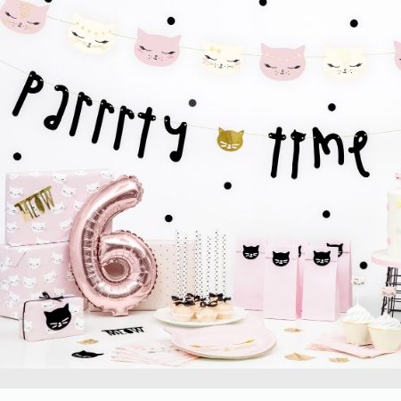 Pretty Pink Cat Plates I Pretty Pink Cat Party Tableware I My Dream Party Shop UK