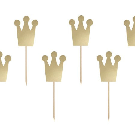 Gold Princess Crown Cupcake Toppers I My Dream Party Shop I UK