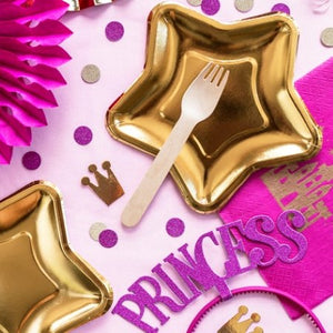 Princess Dark Pink and Gold Confetti I My Dream Party Shop I UK