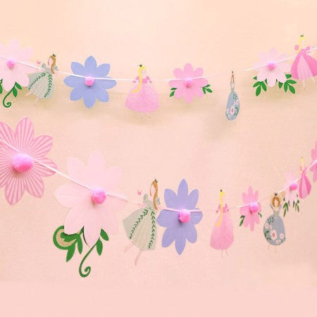Pretty Princess and Flower Party Garland I Princess Party Decorations I My Dream Party Shop I UK