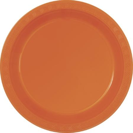 Small Pumpkin Orange Plates I Orange Party Tableware  I My Dream Party Shop