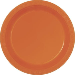 Pumpkin Orange Paper Plates 7 inch - My Dream Party Shop