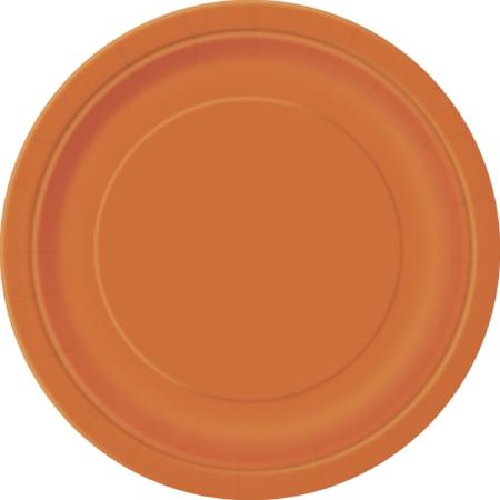 Pumpkin Orange Paper Plates 9 inch - My Dream Party Shop