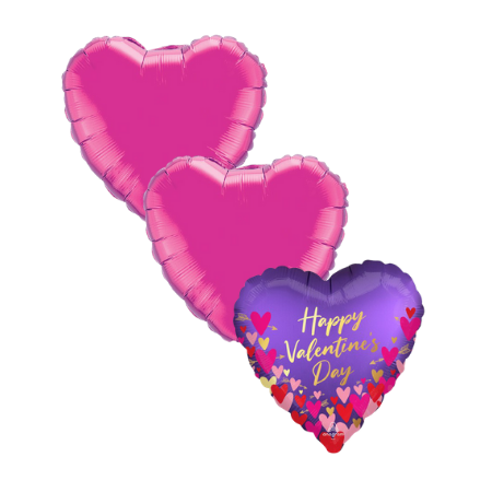 Purple Valentines Day Helium Balloons I My Dream Party Shop Ruislip