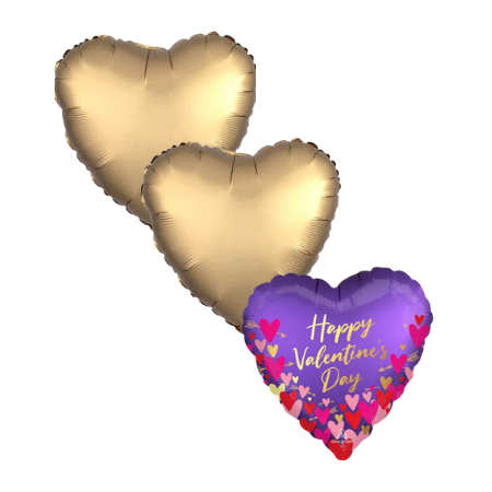 Purple Valentines Day Helium Balloons Ruislip I My Dream Party Shop