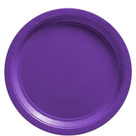 Purple Round Paper Party Plates I Party Tableware I My Dream Party Shop I UK
