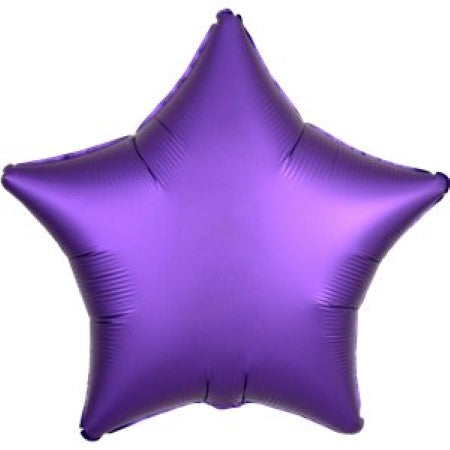 Satin Luxe Purple Star Balloon I My Dream Party Shop I UK