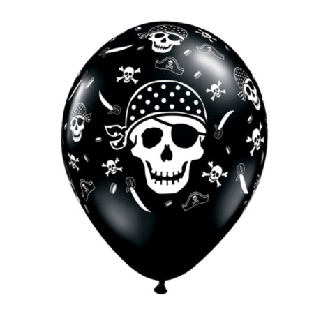 Black & White Pirate Balloons by Qualatex I Skull & Crossbones Balloons I My Dream Party Shop I UK