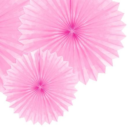 Light Pink Tissue Rosette Fans, Set of 3 - My Dream Party Shop
