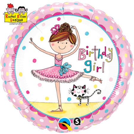 Rachel Ellen Ballerina Birthday Girl Balloon I My Dream Party Shop
