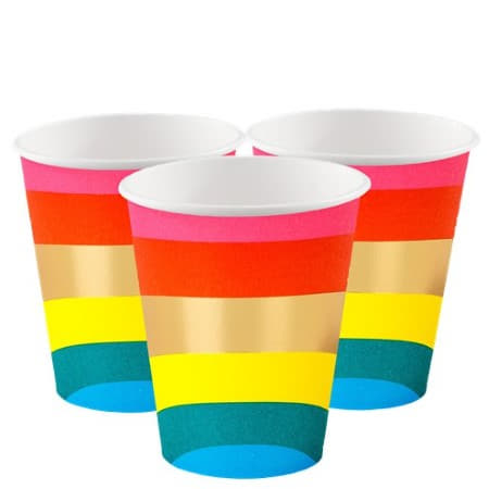 Rainbow Brights Cups I Rainbow Party Tableware I My Dream Party Shop UK