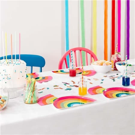 Rainbow Brights Rainbow Shaped Napkins I Talking Tables I Rainbow Party I My Dream Party Shop I UK