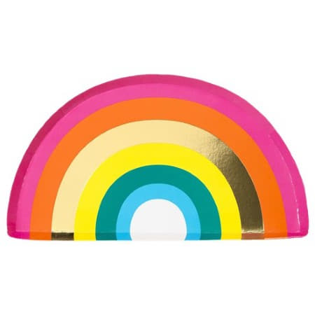 Rainbow Brights Rainbow Shaped Plates I  Rainbow Party Tableware and Decorations I My Dream Party Shop I UK